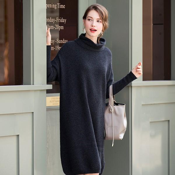 加厚宽松羊绒针织裙第1张