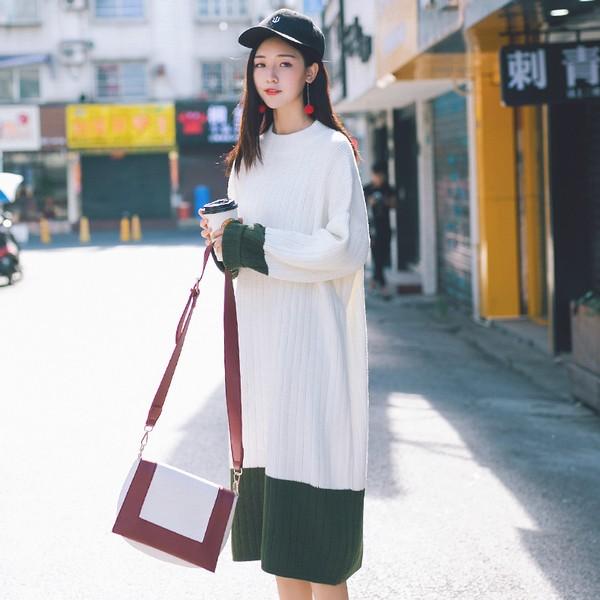 加厚宽松针织连衣裙第1张