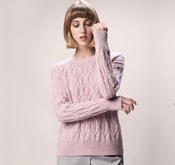 纯色绞花针织衫第8张