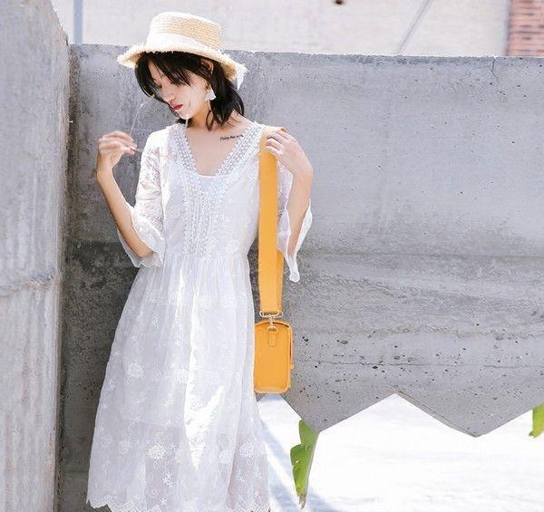 中长蕾丝连衣裙第5张
