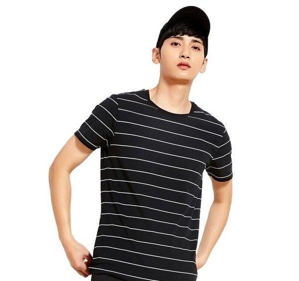 森马 条纹圆领短袖T恤第1张