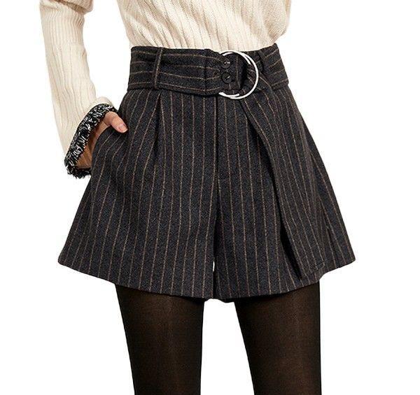 条纹高腰阔腿裤第1张